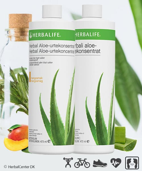 Herbalife aloe vera drik i to forskellige varianter