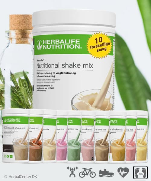 Herbalife proteinpulver shake formula 1 i 10 forskellige shakemix smag