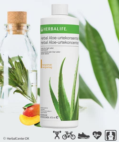 Aloe vera drik med mangosmag