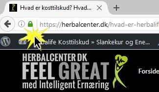 Sikkerhed SSL på HerbalCenter nye servere med hastighed - Sikker og hurtig webshop