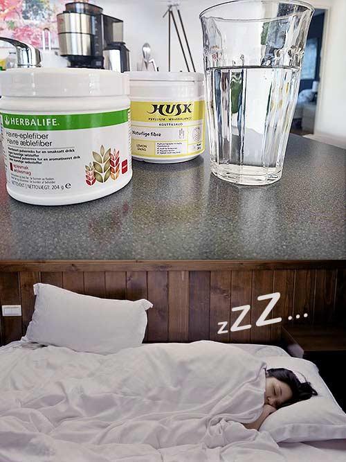 Fiber til bedre søvn test Herbalife og HUSK