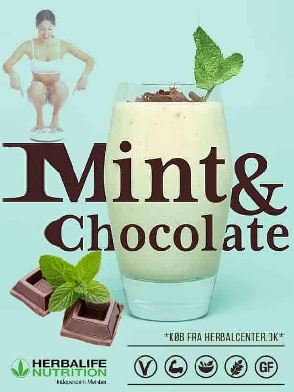 Nyt lækre mynte og chokolade protein shake mix