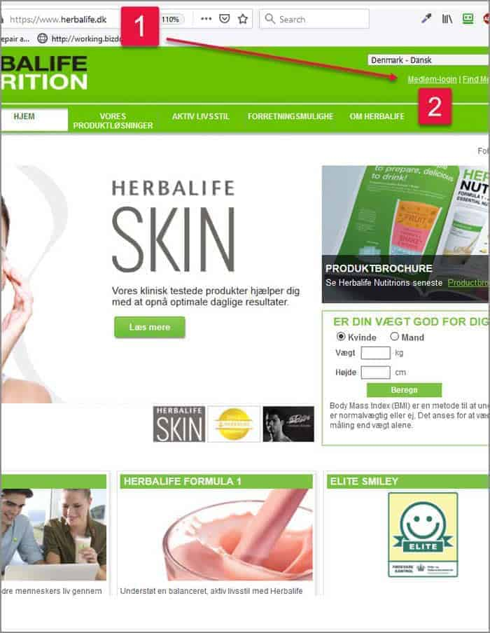 Herbalife medlemskab tilmelding trin 1