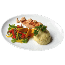 1 farverig sund måltid om dagen