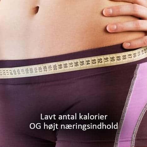 Lavt antal kalorier og højt næringsindhold med protein shake