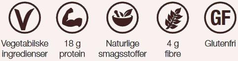 Protein shake er glutenfri med vegetabilske naturlige-smagsstoffer