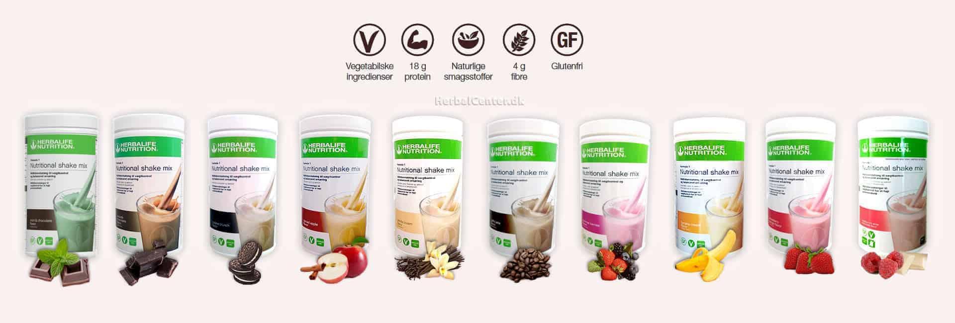 10 forskellige lækre Herbalife protein shakes