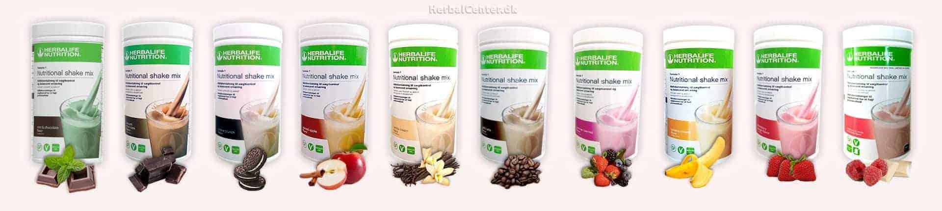 Herbalife 10 lækre protein shake smag