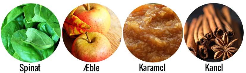 Spinat og æble protein shake ingredienser