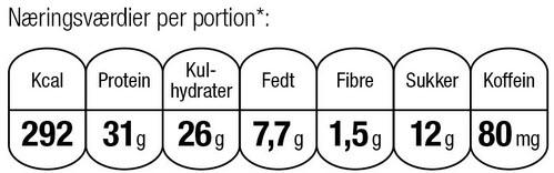 Mocha høj protein iskaffe cheesecake næringsværdier